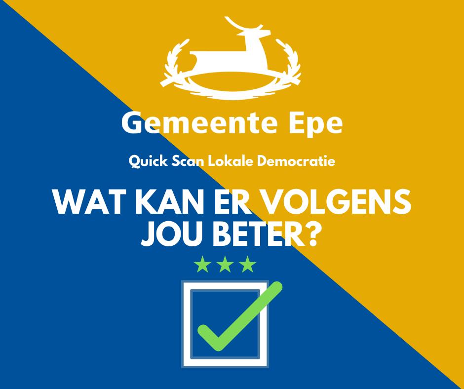 Gemeente Epe onderzoekt lokale democratie